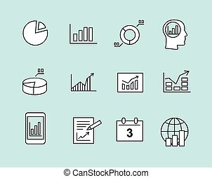 Diagram and infographic icons - Business charts Infographic...