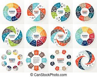 diagram, begreb, processes., firma, dele, abstrakt, pile,...