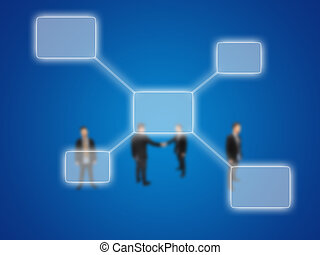 diagram, biznesmen