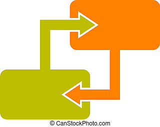 diagram, blok