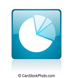 diagram blue square web glossy icon
