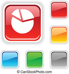 Diagram  button. -  Diagram  square button. Used blends.