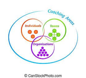 diagram, coachend, gebieden