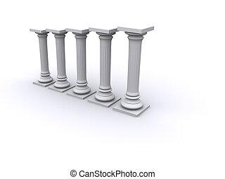 Diagram columns - Conceptual ionic-style Greek architecture...