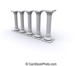 Diagram columns - Conceptual ionic-style Greek architecture...