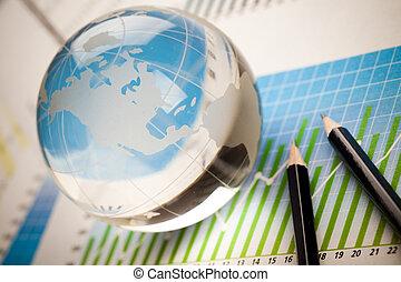 diagram, concept, toon, kleurrijke, geld, helder
