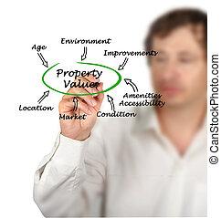 diagram, eigendom waarde