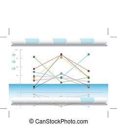 diagram, financieel