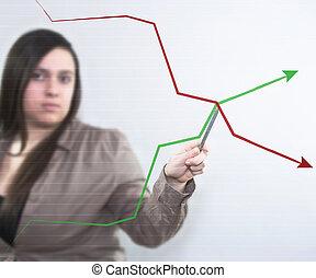 diagram, firma, baggrund