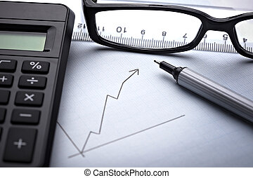 diagram, graph, by, finans, firma