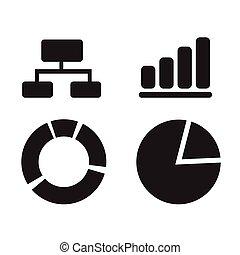 diagram graph icon illustration design