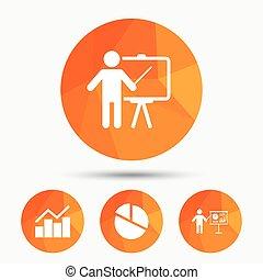 Diagram graph Pie chart. Presentation billboard. - Diagram...
