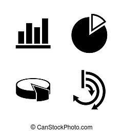 Diagram graphs. Simple Related Vector Icons