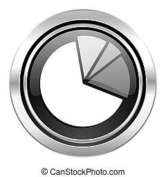 diagram icon, black chrome button, graph symbol