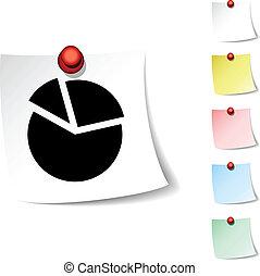 Diagram  icon. - Diagram sheet icon. Vector illustration.
