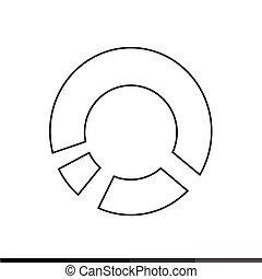 diagram icon , graphs icon Illustration design