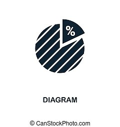 Diagram icon. Monochrome style design from business icon collection. UI. Pixel perfect simple pictogram diagram icon. Web design, apps, software, print usage.