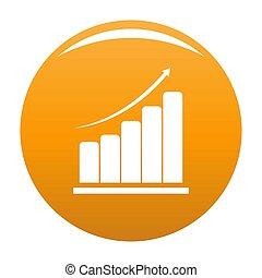 Diagram icon orange