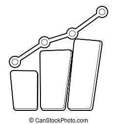 Diagram icon, outline style - Diagram icon. Outline...