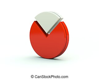Diagram icon. Red series