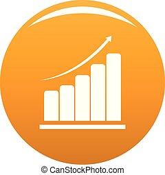 Diagram icon vector orange