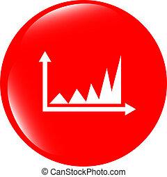 Diagram icon web button, business concept