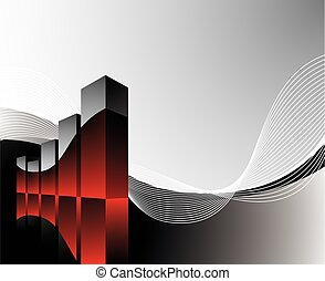 diagram illustration with wave on dark background