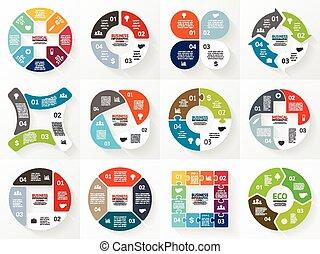 diagram, infographic, graph., pijl, vector, cirkel