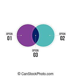 diagram infographics for two circle design vector and marketing can be used for workflow layout, annual report, web design. Business concept with steps or processes