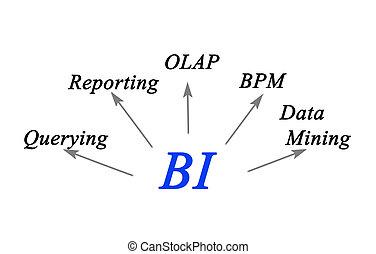 diagram, inteligence, povolání