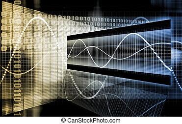 diagram, korporativ, data, guld