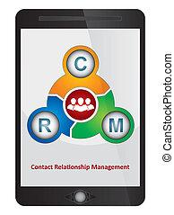 diagram, mjukvara, administration, förhållande, kontakta