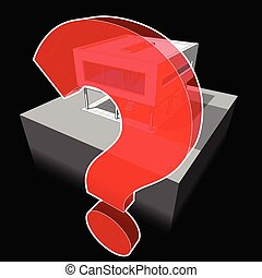 modern house and question mark