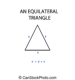 an equilateral triangle