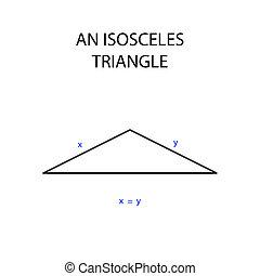an isosceles triangle