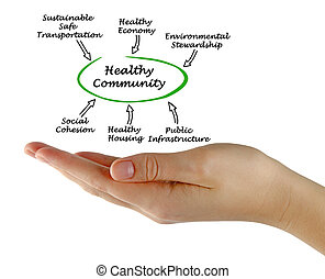 Diagram of Healthy Community