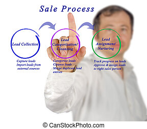 Diagram of sale process