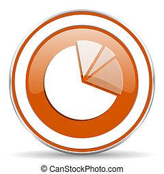 diagram orange icon graph symbol