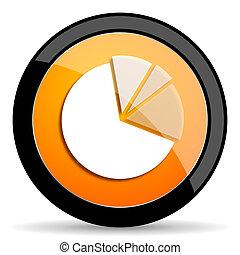 diagram orange icon