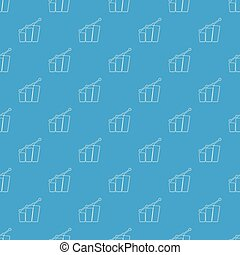 Diagram pattern vector seamless blue repeat for any use