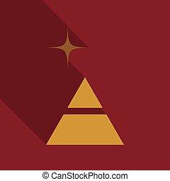 diagram, piramida, trójkąt, processes., strony, opcje, wykres, infographics., 2, kroki