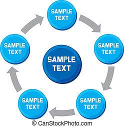 diagram, presentatie