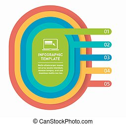 Diagram presentation template for infographics
