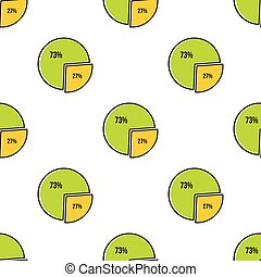 Diagram seamless pattern in cartoon style isolated on white background vector illustration
