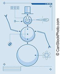 diagram, snögubbe