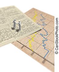 diagram., strömkrets, graf, illustration, papper, statistisk, 3