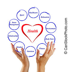 diagram, sundhed
