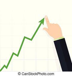 Diagram up. Profit concept, growing business graph