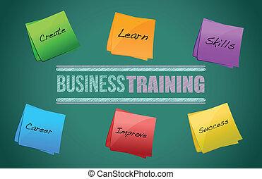 diagram, výcvik, grafický, povolání, barvitý