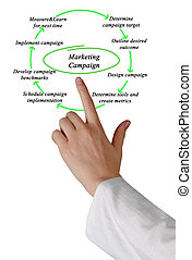diagram, van, marketing, campagne